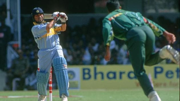 Sachin Tendulkar at the Cricket World Cup 1996.(Patrick Eagar via Getty Images)