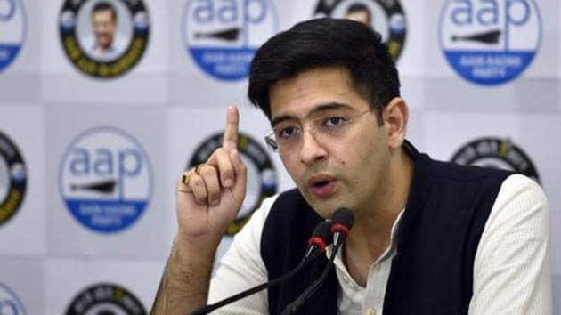 AAP MLA Raghav Chadha.(Sanjeev Verma/HT PHOTO)