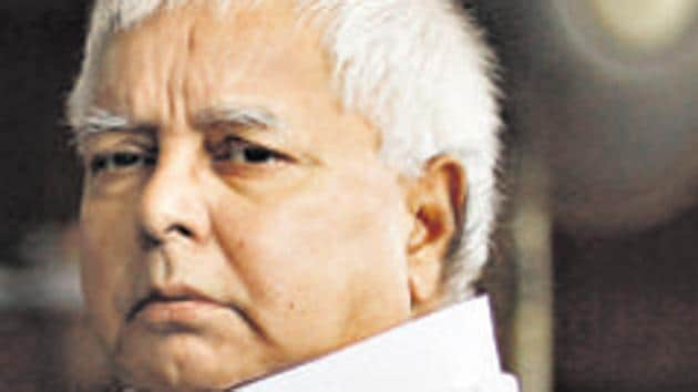 RJD chief Lalu Prasad Yadav is suffering at several ailments and was admitted to RIMS in December 2018 before he was shifted to the Kelly's bungalow four months ago.(HT Photo)