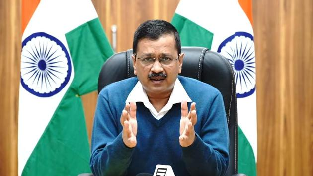 """In a virtual press conference on November 17, Delhi CM Kejriwal thanked the Centre for its recent intervention in the capital, and specifically mentioned the shortage of ICU beds. The CM also asked people to not let their guards down at any cost. """"Covid-19 does not discriminate. It can happen to any of us. You have to strictly adhere to rules and take all precautions,"""" he said. (PTI)"""