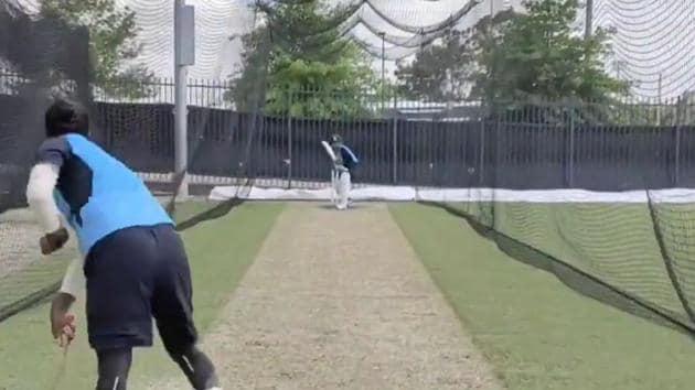 Indian wicketkeeper-batsman Wriddhiman Saha at net session in Australia(Twitter)