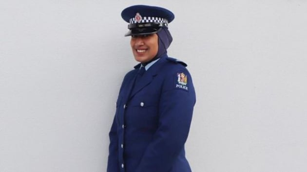 Zeena Ali, New Zealand Police's first member to wear a specially designed hijab hopes that this will encourage more women to join the police.(Image via Instagram/New Zealand police)