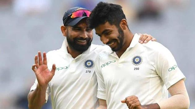 Indian pacers Mohammed Shami and Jasprit Bumrah(Twitter)
