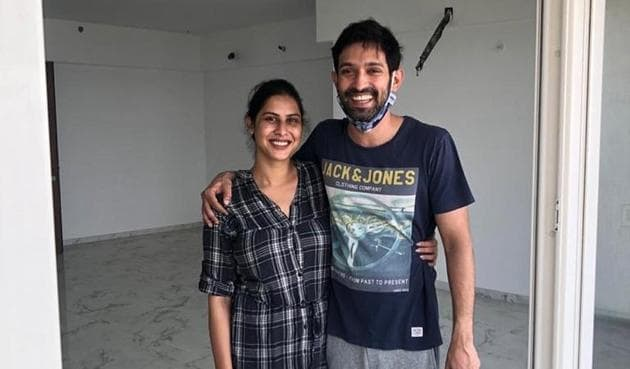 Vikrant Massey and Sheetal Thakur in their new home.