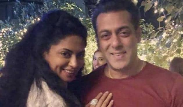 Kavita Kaushik with Salman Khan.