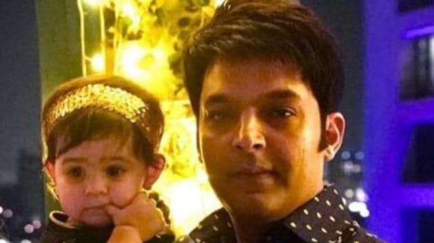 Kapil Sharma with daughter Anayra.