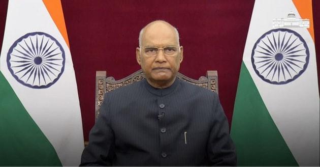 President Ram Nath Kovind on Wednesday addressed the 4th annual convocation of Jawaharlal Nehru University (JNU) through a video message(@rashtrapatibhvn)