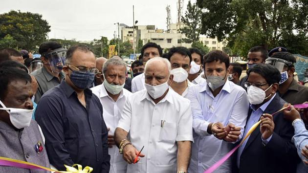 Karnatak Chief Minister B S Yediyurappa said Maratha Development Authority has been set up for the development of the Marathis living in Karnataka.(ANI)