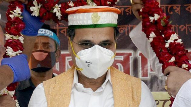Leader of Congress in Lok Sabha Adhir Ranjan Chowdhury.(ANI File)