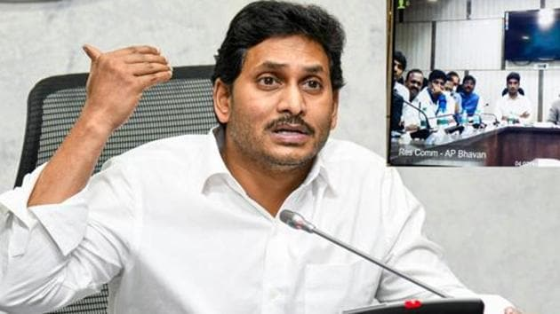 YS Jagan Mohan Reddy 's government in Andhra Pradesh has been at loggerheads with state election commissioner Nimmagadda Ramesh Kumar.(PTI)