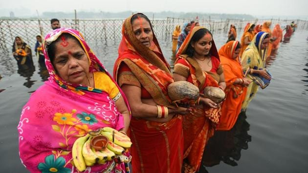 The Delhi Disaster Management Authority on November 10 had issued an order barring any gathering on the occasion of Chhath Puja, after cases in the Capital started to increase from October last week.(Photo: Sanchit Khanna/HT)