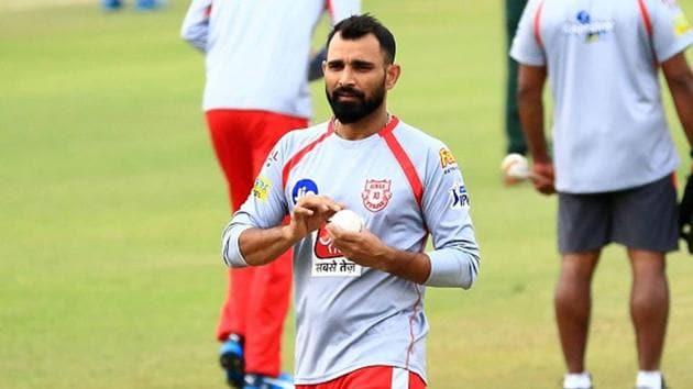 Kings XI Punjab fast bowler Mohammed Shami(IPL/Twitter)