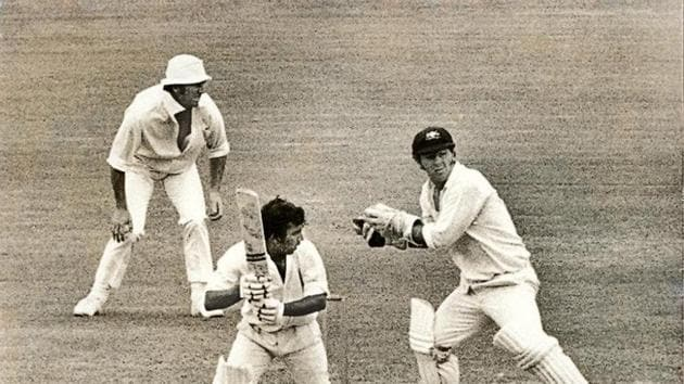 Sunil Gavaskar plays Australia's Greg Chappell to leg side, on 34 during the Australia vs the Rest of the World XI cricket match at the SCG, 12 January 1972. File(Getty Images)
