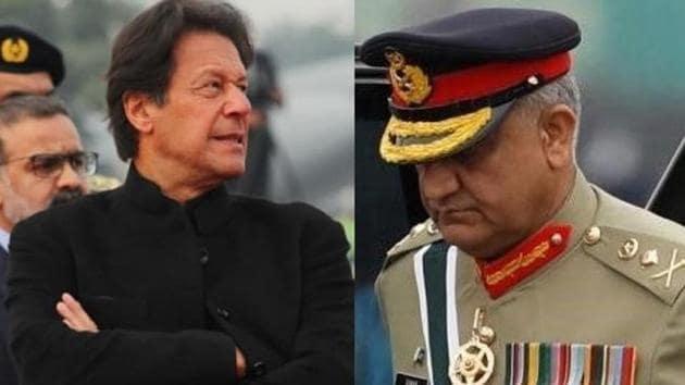 Pakistan Prime Minister Imran Khan and Army chief Qamar Javed Bajwa.(Agencies)