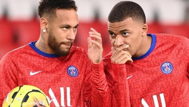Photo of Neymar (L) and Kylian Mbappe (R)(Twitter)