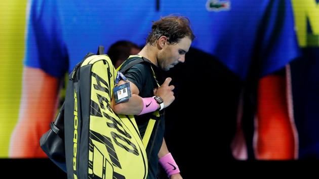 Tennis - ATP Finals - The O2, London, Britain - November 21, 2020 Spain's Rafael Nadal walks off after losing his semi-final match against Russia's Daniil Medvedev Action Images via Reuters/Paul Childs(Action Images via Reuters)
