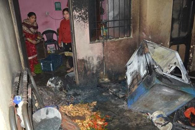 The mishap took place in a house where multiple families stay on rent in adjoining rooms.(HT FILE)