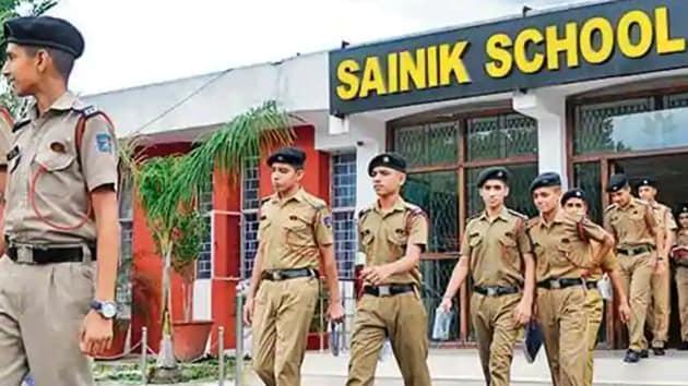 Sainik School students.(HT file)