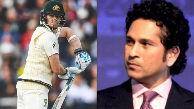 Photo of Australian batsman Steve Smith (L) and Sachin Tendulkar (R)(HT Collage)
