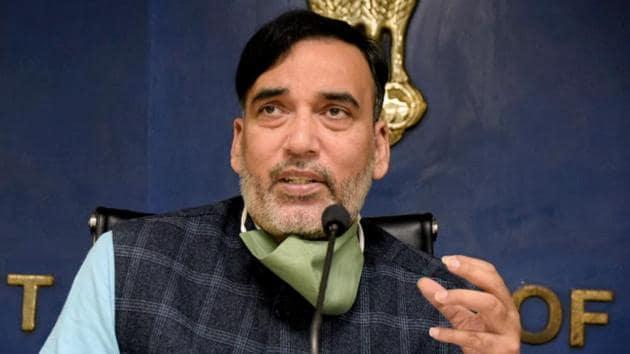 Delhi environment minister Gopal Rai.(ANI File)