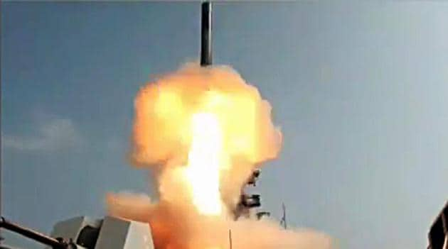 A test-fire of BrahMos missile. (ANI File Photo)(ANI)