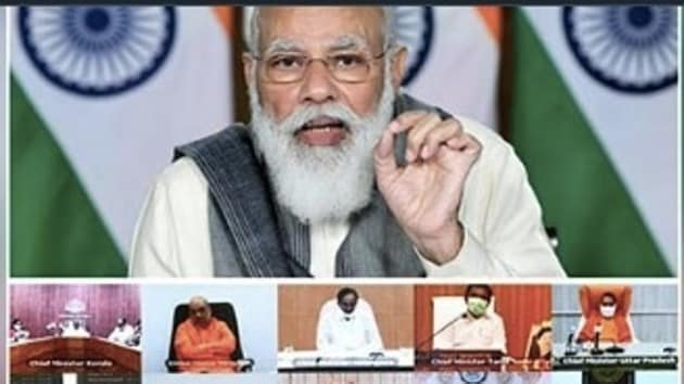 Prime Minister Narendra Modi said on Tuesday during his interaction with chief ministers that some people were engaging in politics on the coronavirus vaccine, people familiar with the development said(Twitter)