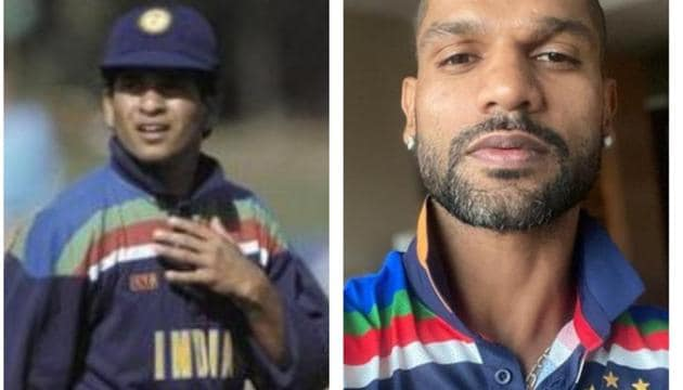 Shikhar Dhawan tweets India's new kit resembling the 1992 World Cup jersey