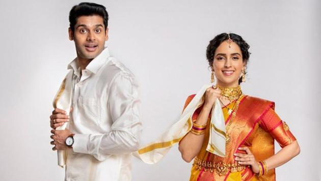 Abhimanyu Dassani and Sanya Malhotra in Meenakshi Sundareshwar.