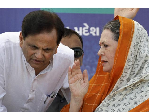 Congress party president Sonia Gandhi said that Ahmed Patel was a colleague whose entire life was dedicated to the Congress party.(PTI File Photo)