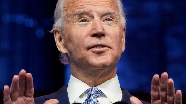 US President-elect Joe Biden announces his national security nominees and appointees at his transition headquarters in Wilmington, Delaware, US on November 24, 2020.(Reuters File Photo)