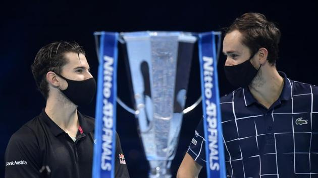 Tennis - ATP Finals - The O2, London, Britain - November 22, 2020 Russia's Daniil Medvedev with the trophy after winning the final match against Austria's Dominic Thiem(REUTERS)
