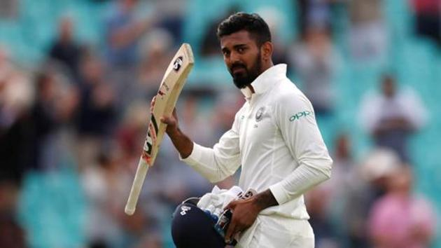 India's KL Rahul acknowledges the applause of the crowd after being dismissed.(REUTERS)