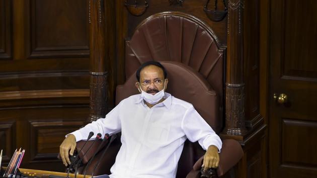 Rajya Sabha Chairman and vice president M Venkaiah Naidu.(PTI)