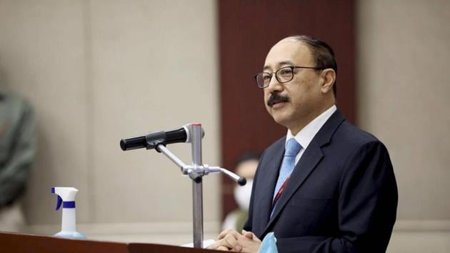 """""""During the visit, Shringla will hold bilateral meeting with his Nepali counterpart and discuss wide ranging areas of cooperation between Nepal and India,"""" Nepalese foreign ministry said.(PTI file photo)"""