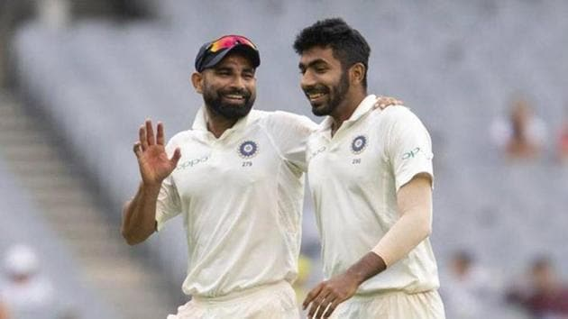 Indian pacers Jasprit Bumrah and Mohammed Shami(Twitter)