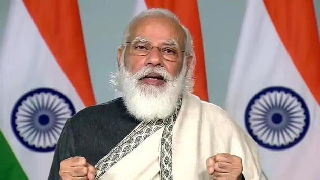 Prime Minister Narendra Modi's address during the concluding session of the 80th All India Presiding Officers Conference.(ANI photo)