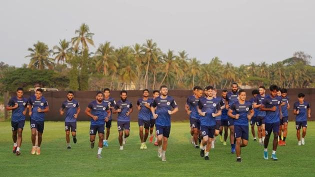 ATK Mohun Bagan FC players at their training session(Twitter)