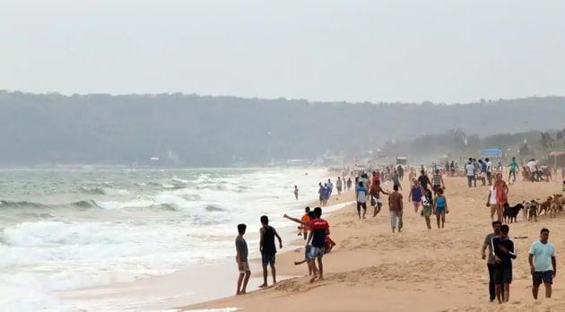 The Candolim- Calangute beach in Goa.(ANI)