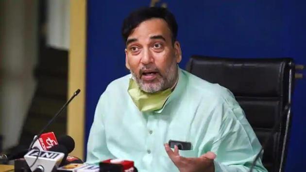 Delhi environment minister Gopal Rai has tested Covid-19 positive.(PTI File Photo)