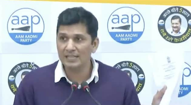 Addressing a press conference, AAP's chief spokesperson Saurabh Bharadwaj on Wednesday alleged corruption in the construction of a hospital by the SDMC, a claim denied by the BJP, which rules the civic bodies(Twitter)