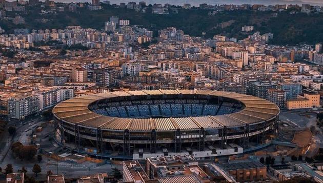 Photo of Napoli stadium(Twitter)