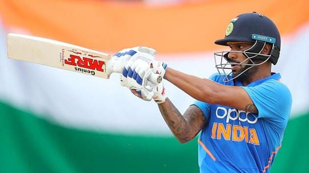 Shikhar Dhawan in action.(Getty Images)