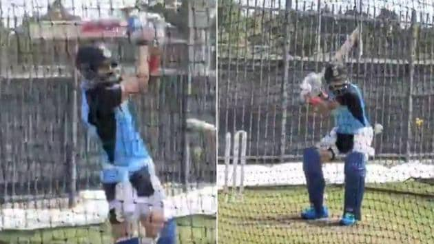 Indian captain Virat Kohli at net practice in Australia(Twitter)