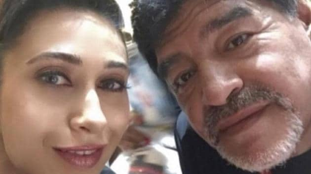 RIP Maradona: Actor Karisma Kapoor shared a priceless memory with the legendary footballer.