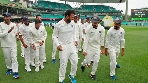 The Indian cricket team after their famous 2-1 win in Australia.(Getty Images)