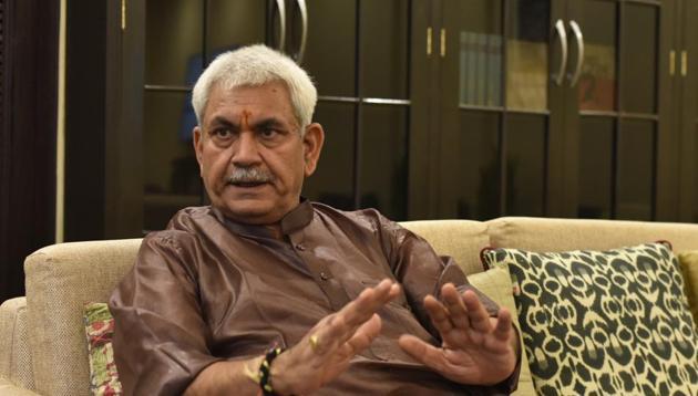 Jammu and Kashmir Lieutenant Governor Manoj Sinha(Vipin Kumar/HT Archive)