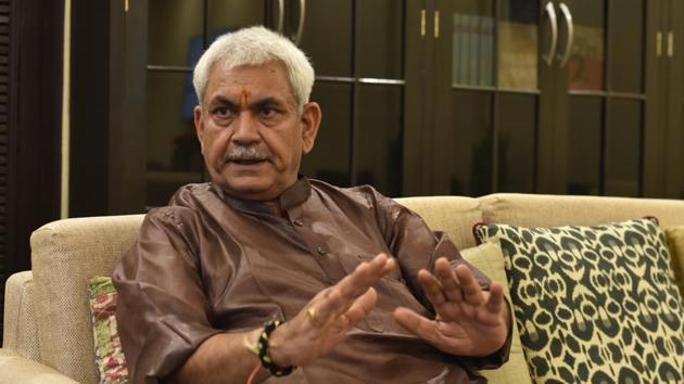 Jammu and Kashmir's lieutenant governor Manoj Sinha.(Vipin Kumar/HT Archive)