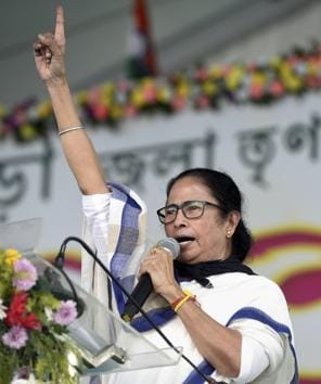 Bankura: West Bengal Chief Minister Mamata Banerjee addresses a public meeting, at Sunuk Pahari in Bankura district, Wednesday, Nov. 25, 2020. (PTI Photo)(PTI25-11-2020_000126B)(PTI)