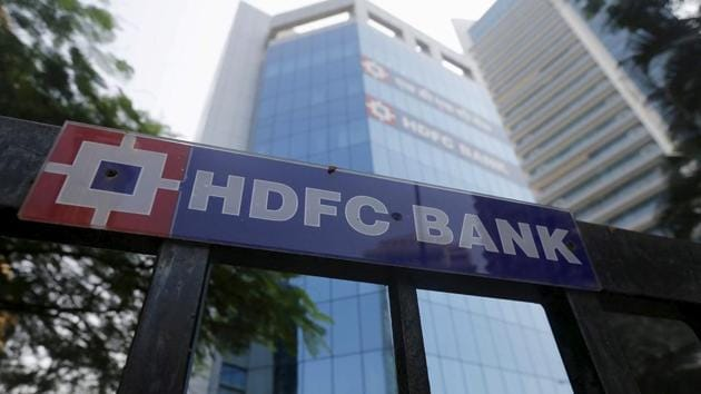 HDFC Bank Ltd's shares in intraday trading touched a record high of Rs 1,464 apiece on BSE, lifting its market capitalisation to Rs 8.02 lakh crore, a first for the lender.(REUTERS)