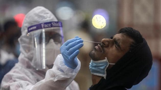 Delhi led the tally in term of cases per million population as it logged 29,169 infections, followed by Kerala at 16,201, Maharashtra at 14,584 and Haryana at 7,959.(Reuters Photo)